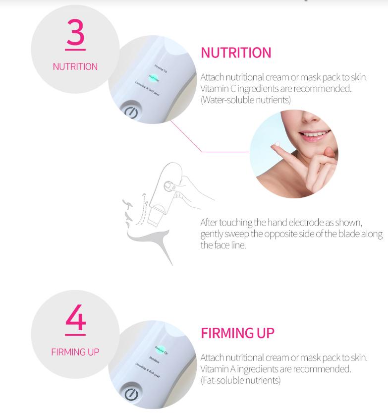 Derma F plus, 3 modes ultrasonic face scrubber 4