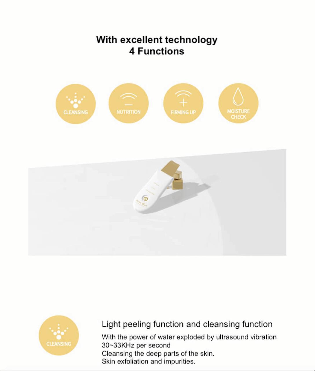 DermaW Gold Ultrasound Water Peeling 10